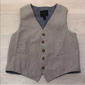 Jcrew blue seersucker boys vest